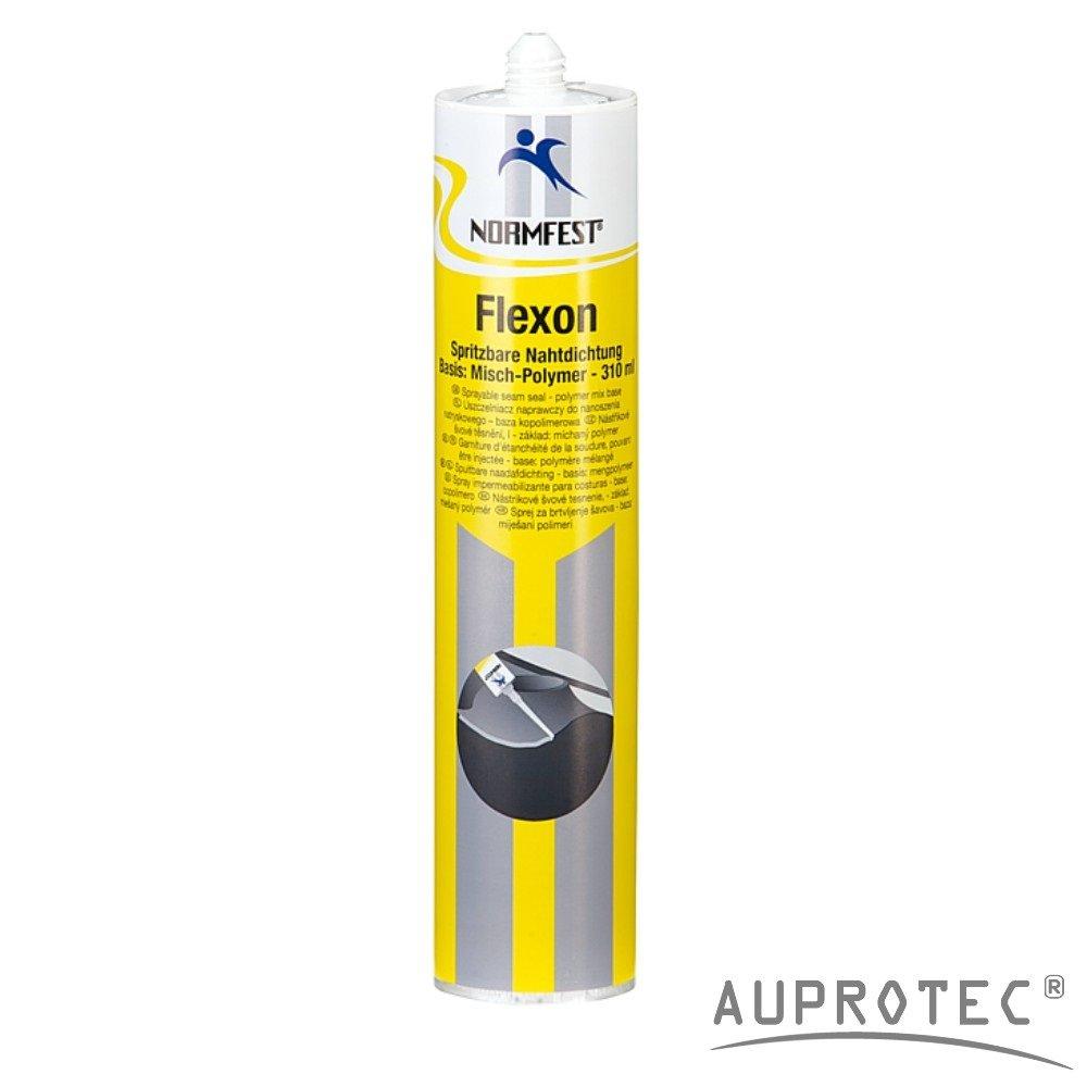 Auprotec Normfest 1K Karosserie Dichtmasse spritzbar Nahtabdichtung Flexon Ultra schwarz (1 Kartusche) Auprotec® Normfest Chemie