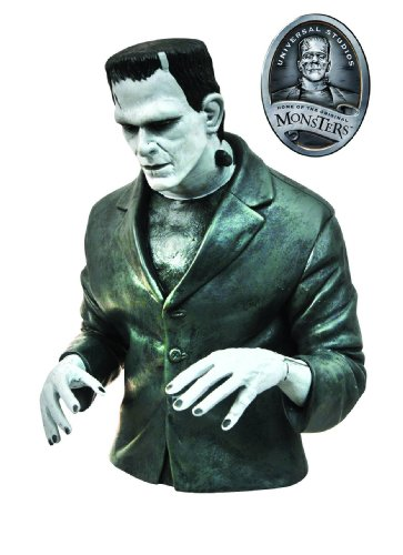 Diamond Select Toys Universal Monsters: Black and White Frankenstein Vinyl Bust Bank