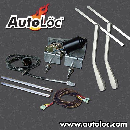 AutoLoc Power Accessories 9867 Heavy Duty Power Windshield Wiper Kit with Bottom Mount Wiper Arms by AutoLöc (Image #1)