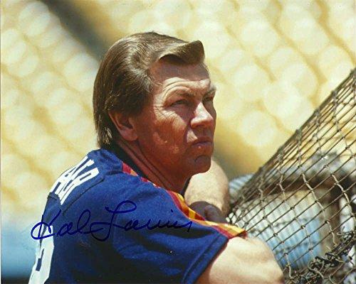 Hal Lanier Autographed Astros 8 x 10 Photo