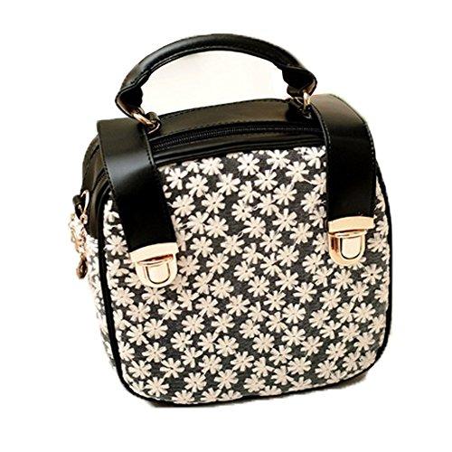 Black Leather Lace Hobo - Top Shop Womens Leather Lace Totes Shoulder Messenger Bags Handbags Hobos Black Satchels