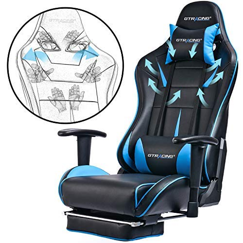 Gtracing Gaming Chair With Footrest Racing Heavy Duty Big