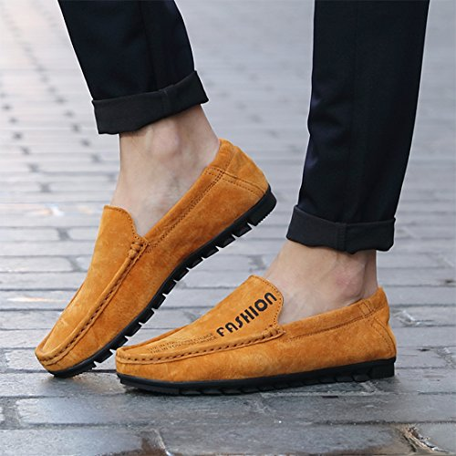 Tda Menns Stilig Slip-on Uformell Semsket Mokkasiner Loafers Båt Sko Brune