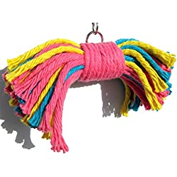 Big Birdie Bow Tie Bird Toy- Perfect Cage Toy for Playing and Preening- Medium to Large Birds