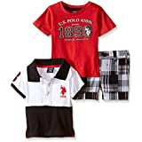 U.S. Polo Assn. Baby Boys' 3 Piece Patchwork Short,...