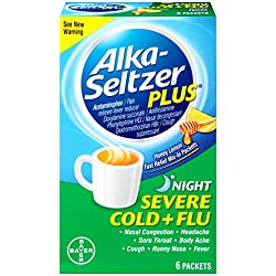 Alka-Seltzer Plus Severe Cold and Flu Night Powder, 6 Count