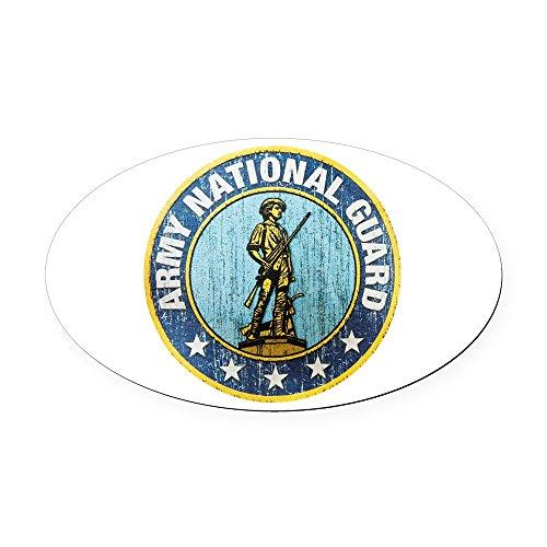 Oval Car Magnet Large Army National Guard Emblem