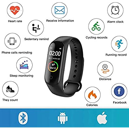 Activity Tracker, Fitness Tracker with Heart Rate Monitor,5ATM Water Resistance HD Touch Screen Smart Watch,Sleep… 3