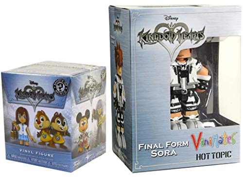 Final Form ViniMates Hot Topic Exclusive Sora Figure & Mini Funko Series Kingdom Hearts Disney Action Figure Collectible 2-Pack Game Gear Bundle