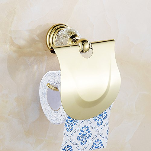 Auswind Antique Gold Crystal Bathroom Accessories Sets Wall Mounted Bathroom Hardware Xh