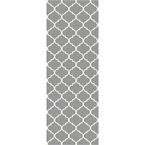 - RUGGABLE Moroccan Trellis Light Grey Washable Indoor/Outdoor Stain Resistant 2.5'x7' (30