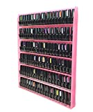 Beauticom Pink Colors Professional Acrylic Nail Polish Wall Rack Display (Holds up to 96 Bottles) (PINKY)