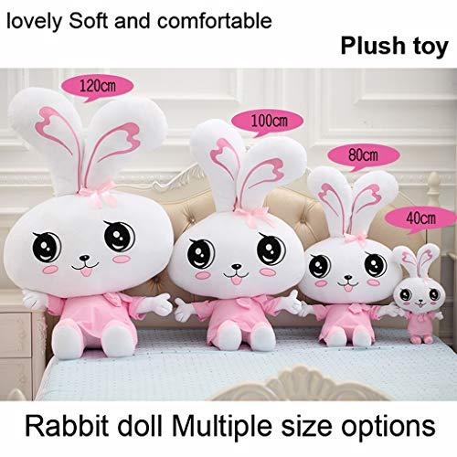 MWY Plüsch-Spielzeug Schöne Weiche Und Bequeme Kaninchen Puppe Möbel Dekoration Nicht Leicht Verformt Kind Plüschtiere Ragdoll Kissen Mädchen Weihnachtsgeschenk (Size : 100cm)