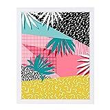 Americanflat Bingo White Frame Print by Wacka Designs, 12'' x 15'' x 1''