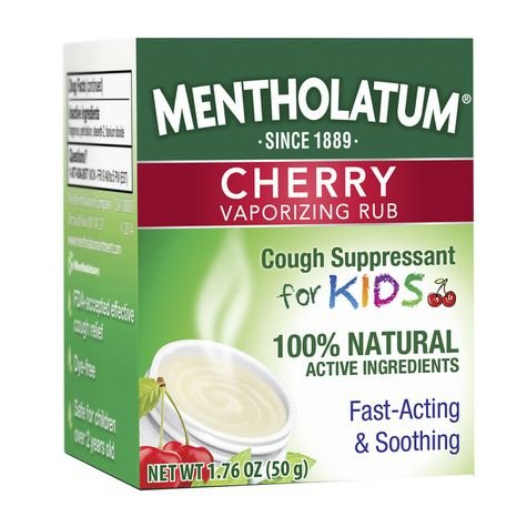 Mentholatum Children's Chest Rub for Kids, Cherry Scented, 1.76 Ounce each, Pack of 4 by Mentholatum