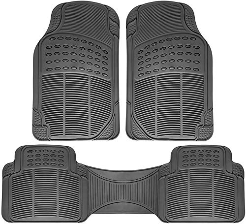 Motorup America Auto Floor Mats All Season Rubber - Fits Select Vehicles Car Truck Van SUV, Black ()