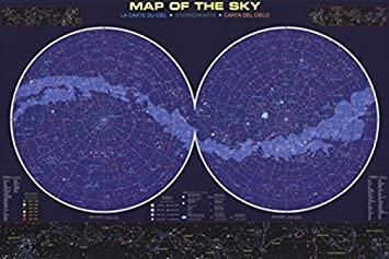 Map of the Night Sky Poster Print 9144 x 6096 cm Amazoncouk