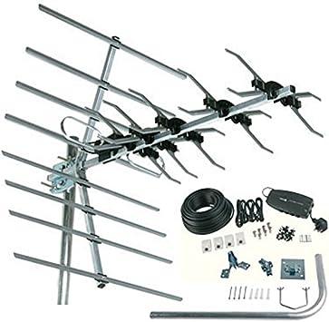 SLx 27899D - Antena para televisión digital (kit de instalación para 4 habitaciones) (importado)