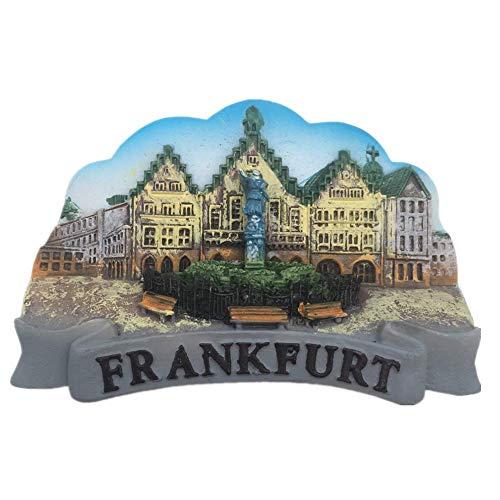 Fridge Magnet Frankfurt Germany 3D Resin Handmade Craft Tourist Travel City Souvenir Collection Letter Refrigerator Sticker ()
