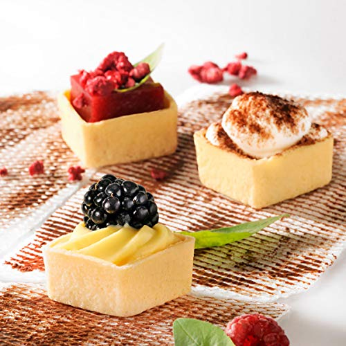 Mini Square Sweet Tart Shell Straight Edges, 1.3'' - 245 pcs by Pastry Chef's Boutique (Image #2)
