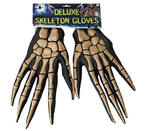 Forum Novelties Women's Deluxe Adult Skeleton Gloves, Multi-color, One (Zombie Adult Gloves)