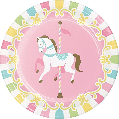 Creative Converting 329351 Carousel Horses 96-Count Sturdy Style Small/Dessert Paper Plates