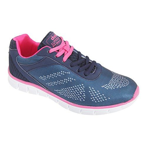 Dek - Zapatillas deportivas modelo Firelight con plantilla con memoria para mujer Gris/Negro