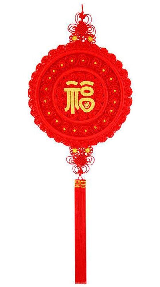 nero Temptation Ornamenti fatti a mano Nappe cinesi con nodi cinesi - Fu