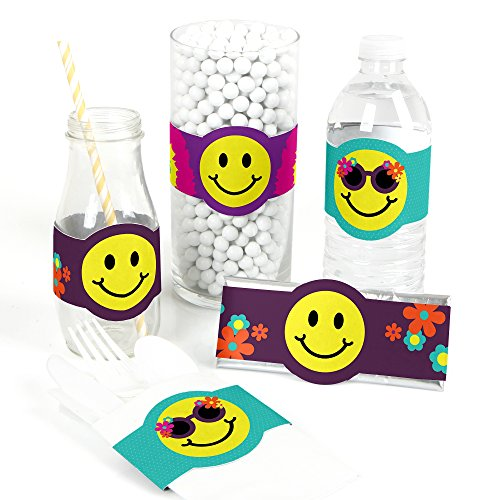 60's Hippie - DIY Party Supplies - 1960s Groovy Party DIY Wrapper Favors & Decorations - Set of 15 -