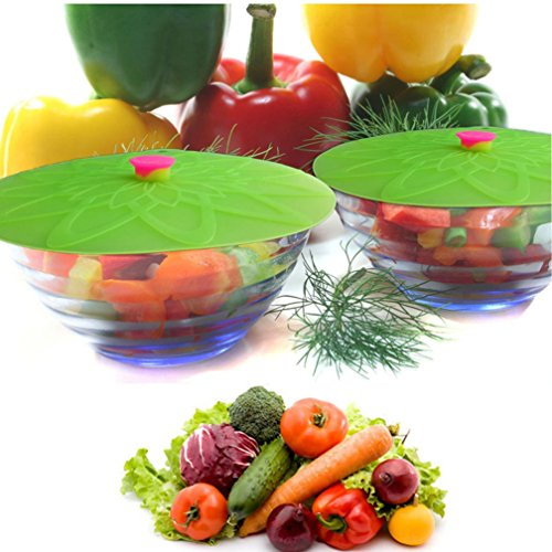 threecat-set-of-4-reusable-food-grade-silicone-suction-lid-and-bowls-cups-food-cover-green