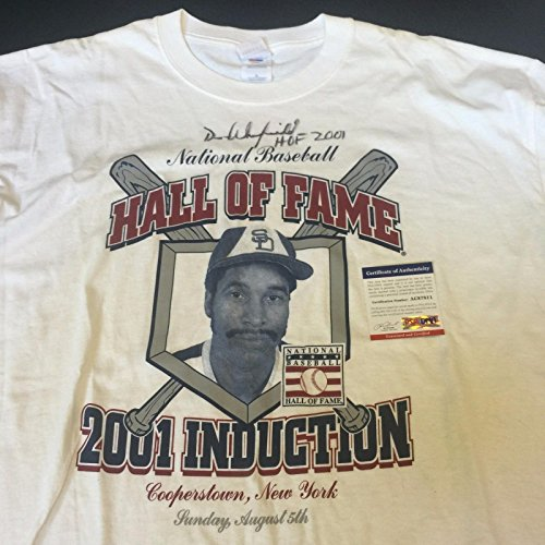 - Dave Winfield Signed 2001 Hall Of Fame Induction Cooperstown T-Shirt PSA DNA COA