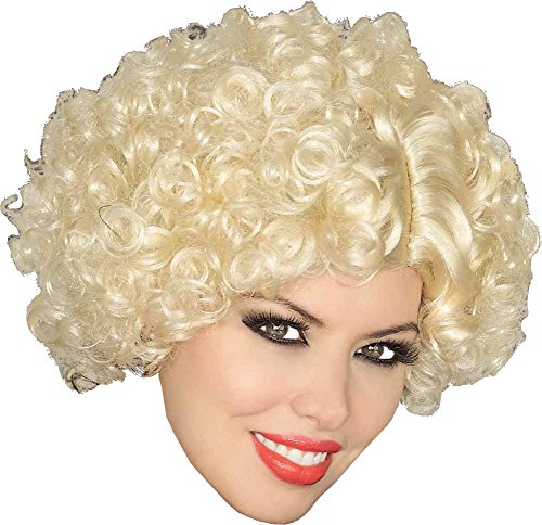 Forum Novelties Women's Short Curly Flapper Costume Wig, Blonde, One Size]()