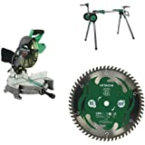 Hitachi C10FCH2 Miter Saw with Stand and Blade