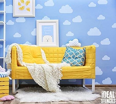 cloud nursery stencil home wall decorating craft stencil cloud