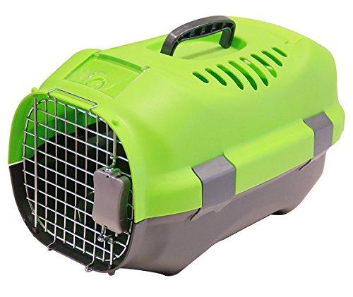BPS (R) Transportín Rígido para Perro o Gato, Animales Domésticos, Tamaño: 52 x 36 x 32 cm. (Verde)