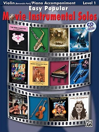 Easy Popular Movie Instrumental Solos For Strings: Violin, Book & CD (Easy Instrumental Solos)
