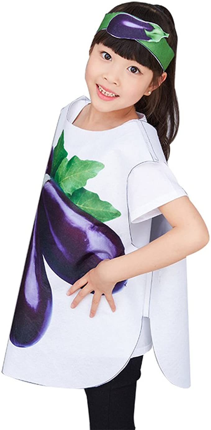 XFentech Adultos Niños Niñas Cosplay Fiesta de Disfraz Trajes de Frutas Verduras y Animales Unisex Ropa Dancewear: Amazon.es: Ropa y accesorios