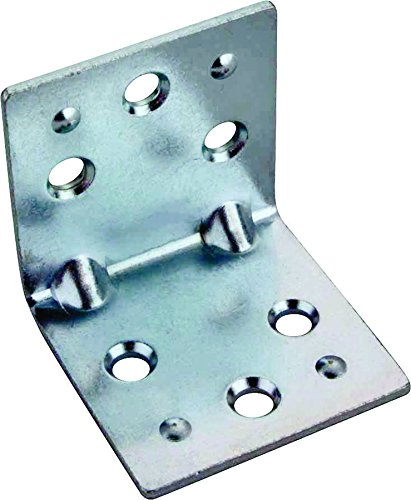 Mintcraft BH-6023L Double Wide Corner Brace, 2 in L 2 mm T, Zinc Plated Double Wide Corner Brace
