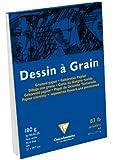 Bloc dessin à grain encollé 21x29,7 180 grammes 30 feuilles Blanc