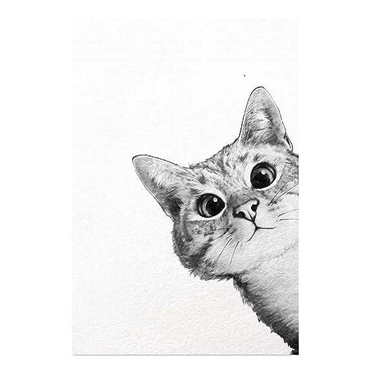 wonCacrostrans Póster de Pared con Dibujos Animados y Gatos de la ...