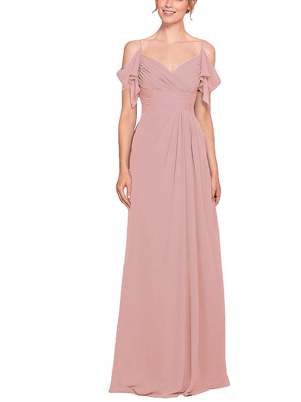 WADAYUYU Elegant Damen lange Brautjungfernkleid V-Ausschnitt Gürtel ...