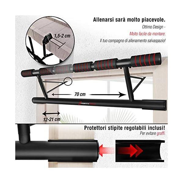 Sportstech Occasione Unica! Barra trazioni 4in1 Inclusive Dip Bar & Power Ropes, Sbarra per Porta Pieghevole KS500… 6 spesavip