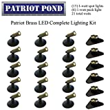 Patriot Brass LED Waterproof Pond and Landscape Lighting 21 Watt Light Kit P-H1