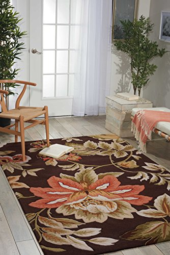 Nourison Fantasy (FA11) Chocolate Rectangle Area Rug, 3-Feet 6-Inches by 5-Feet 6-Inches (3'6