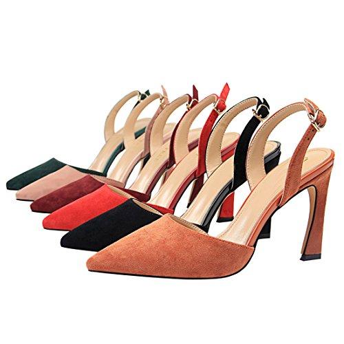 Naranja Y Mujer MiyooparkUK Miyoopark Vestir DS313 de para Ante Zapatos de 1 Rojo RxxBvAPq