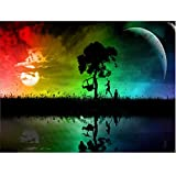 2PC Oucan DIY 5D Diamond Painting Kit,Landscape Tree Full Drill Paint Cross-stitch Diamond Painting Embroidery Diamond Painting Photo for Adults Home Decor (30 * 40cm)