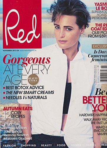 RED MAGAZINE UK NOVEMBER 2013, YASMIN LE BON, SUPERMODEL, HOARDER, - Yasmin La Bon