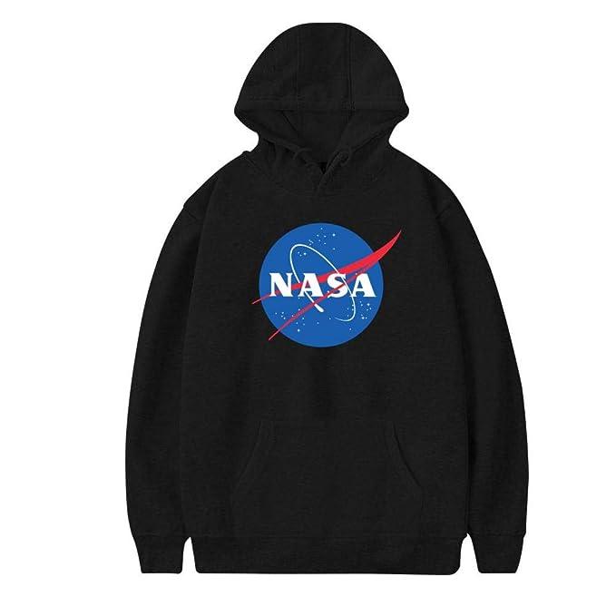 6a5ac5f6e Amazon.com: Vchat Men's NASA Pullover Hoodies Long Sleeve Hooded ...