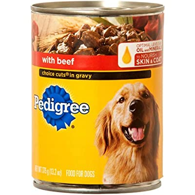 Pedigree 10141821 Choice Cuts Canned Dog Food, Beef, 13-oz. - Quantity 12