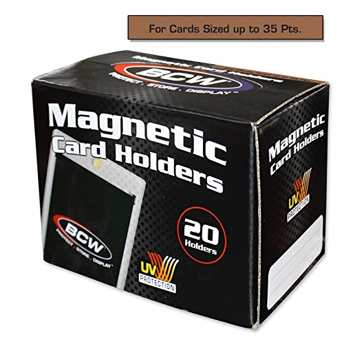 Box of 20 BCW Magnetic Card Holders - 35 Pt.